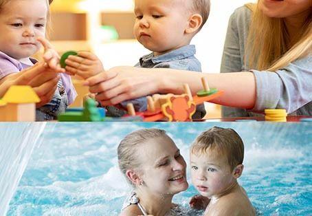 Vols que el teu nadó aprengui anglès i a nedar amb els millors professionals?