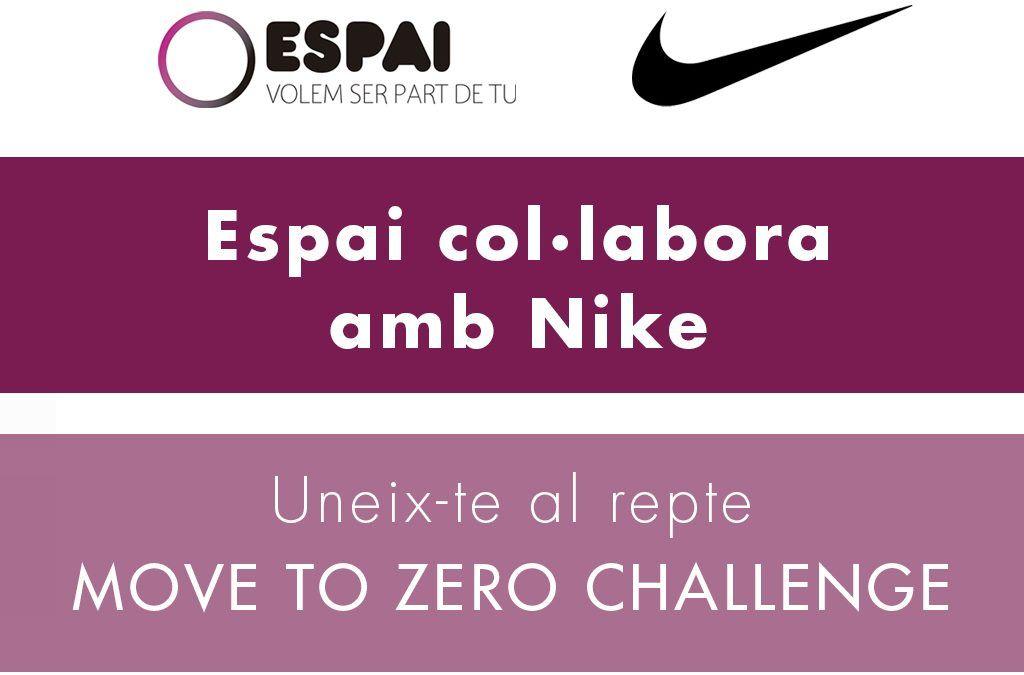 Uneix-te al repte MOVE TO ZERO CHALLENGE de Nike